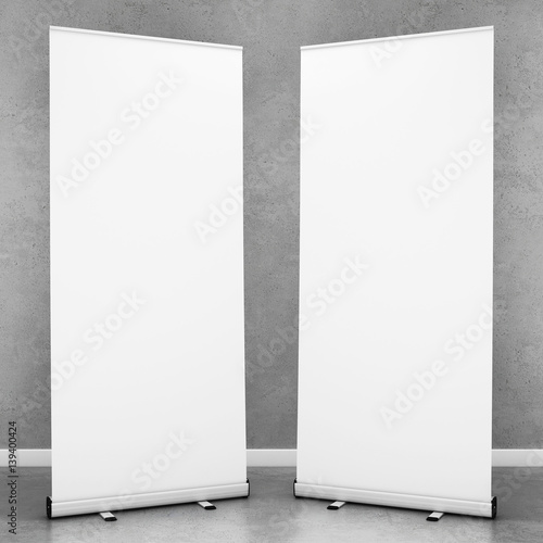 Fotografie, Obraz  Blank roll up banners template. 3D rendering