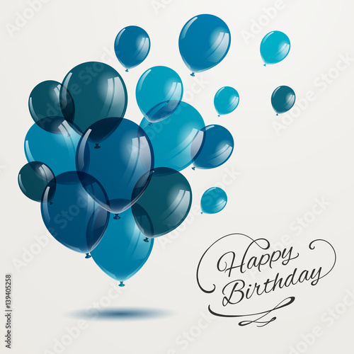Photo  Vector Illustration of a Happy Birthday Greeting Card Design