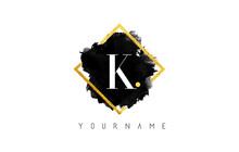 K Letter Logo Design With Blac...
