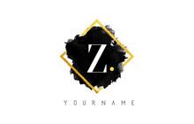 Z Letter Logo Design With Blac...