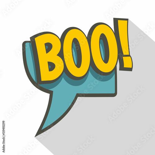 Fotografia, Obraz  BOO, speech bubble icon, flat style