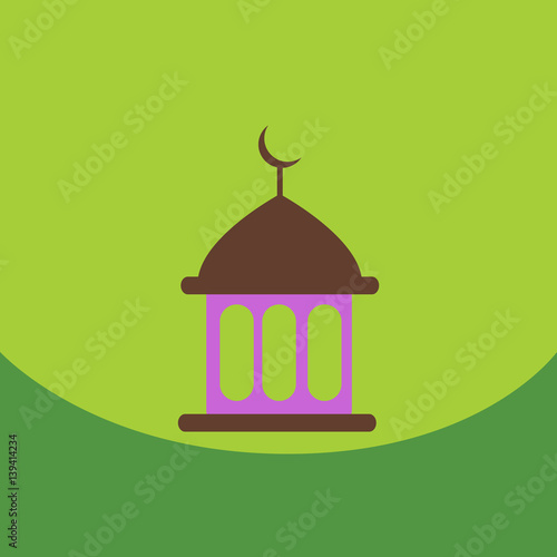 Foto op Canvas Vogels in kooien flat vector icon design collection ramadan festival