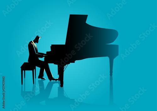 Fototapeta Musician playing piano