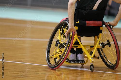 Fotografie, Tablou 車椅子バスケットボール
