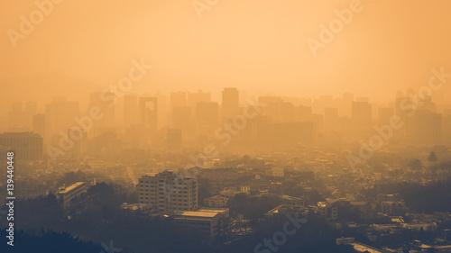 Valokuva  City fine dust