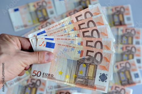 Foto op Aluminium Imagination Soldi - Euro - Denaro