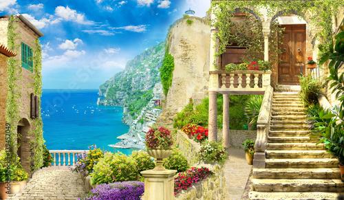 Fotografie, Obraz  Digital fresco. Italy street