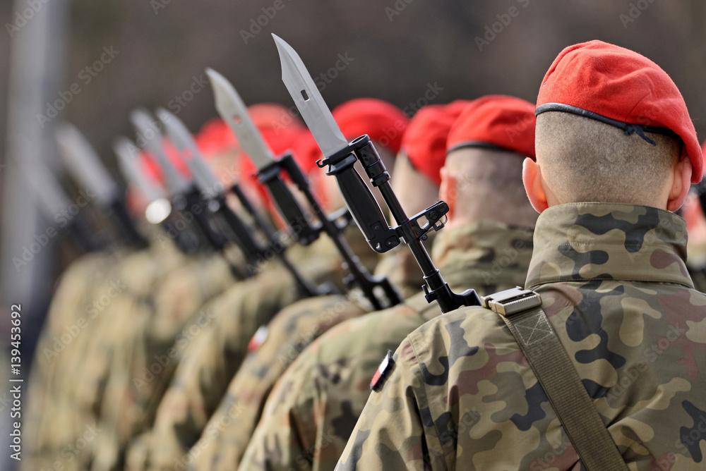 Fototapeta Polska armia.