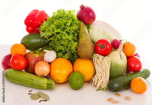 Fruits and vegetables diet weight loss © tirlik