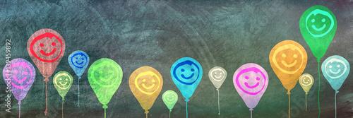 Fényképezés  Smiley Balloons, Copy Space