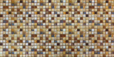 Panel Szklanymosaic, ceramic tile, abstract pattern
