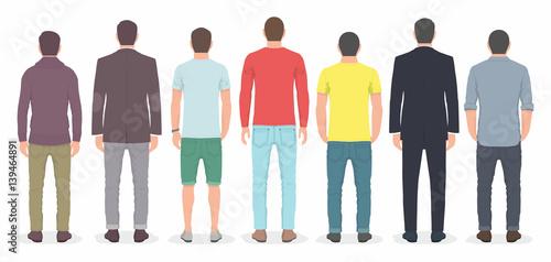 Obraz Group of men from back - fototapety do salonu