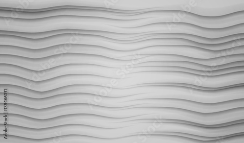 Abstract 3d geometric background. White seamless texture with shadow. Simple clean white background texture. 3D Vector interior wall panel pattern.