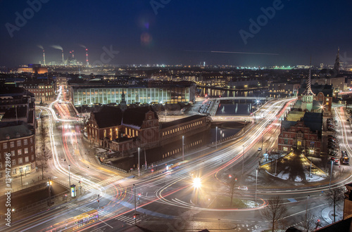 Canvas Print Cityscape of copenhagen long exposure