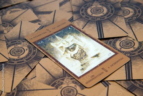 Fotografía Tarot card The High Priestess