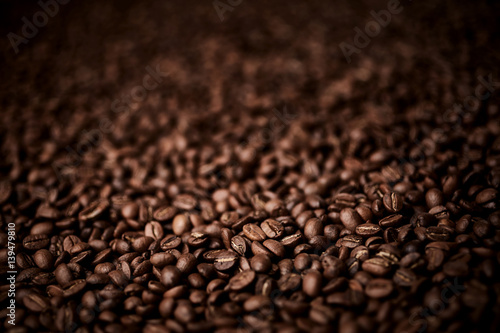 Roasted coffee beans background Fototapet
