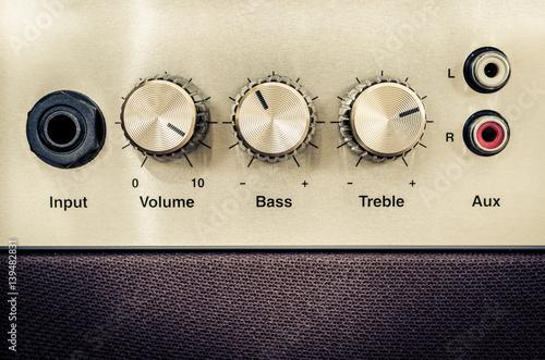Detail of sound volume controls in vintage style Fototapeta