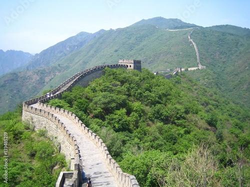 Tuinposter China Grande Muraille de Chine, Mutianyu