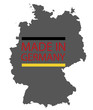 Made in Germany map logo, vector