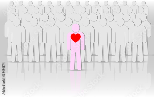 eps 10 vector corporate life icon  Leadership  Crowd of people