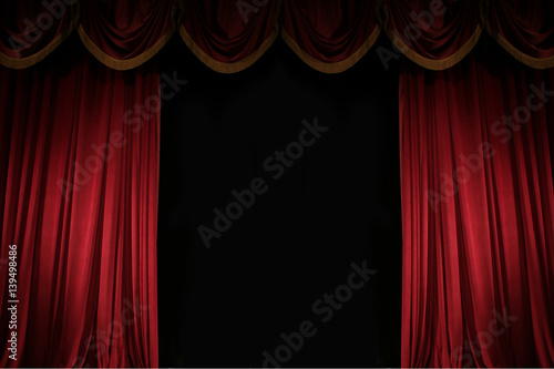 Fotobehang Stof ajar red curtain