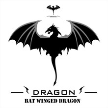 Dragon. Bat Winged Dragon With...