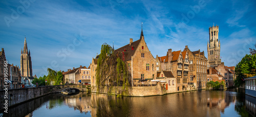Foto op Canvas Brugge Canal, Bruges, Belgium