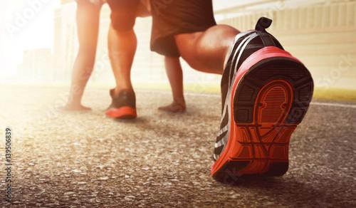 Fotografia  Man ready to run