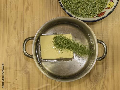 Fotografie, Obraz  Medical marijuana butter cooking