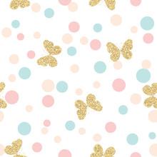 Gold Glittering Butterflies Se...