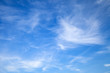 canvas print picture - Light cirrus clouds on blue sky, background
