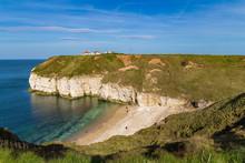 Yorkshire Coast At Thornwick Bay, Near Bridlington, East Riding Of Yorkshire, UK