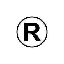 Registered Symbol Isolated Vector