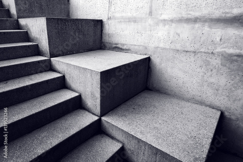 Photo Stands Stairs Urban concrete staircase, abstract architectural background
