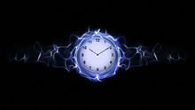 Clock In Fibers, Time Concept,...