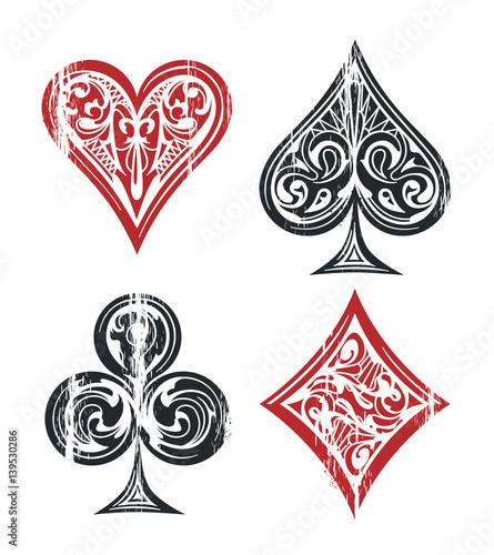 Fényképezés Playing Cards Symbols