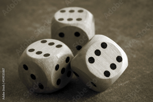 Платно  closeup of the dices on table