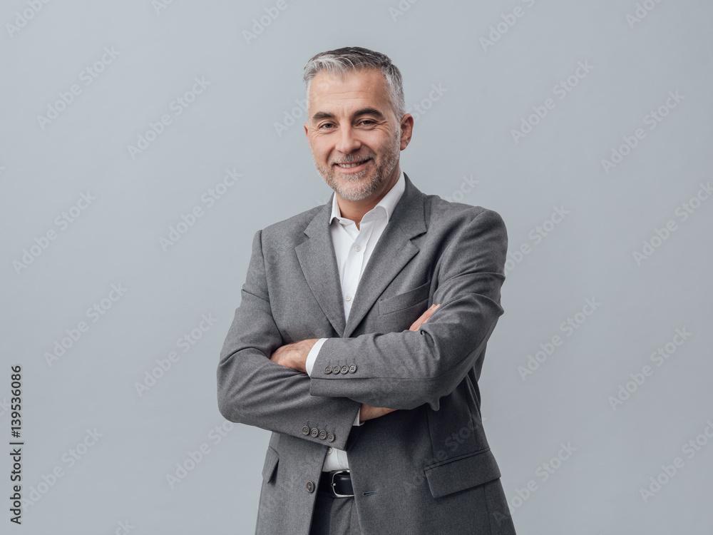 Fototapeta Confident businessman portrait