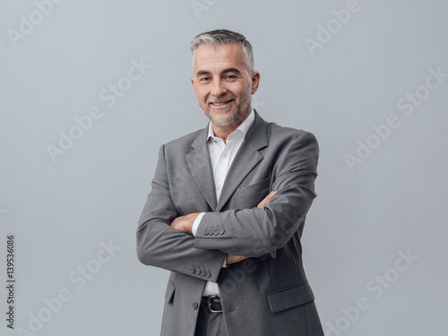 Fotografie, Obraz  Confident businessman portrait