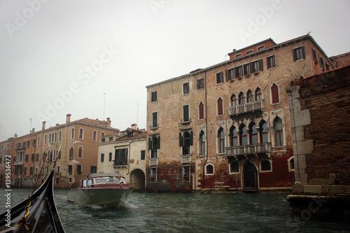 Garden Poster Napels Venice canals views from gondola, Italy