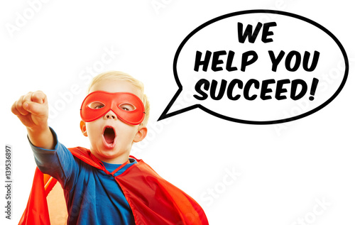 Plakat Pomagamy Ci odnieść sukces!