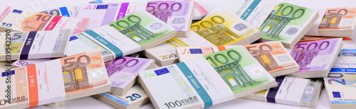 Fotografia  Euro Geldbündel als Panorama