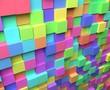 カラフルなブロックの背景