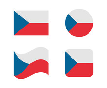 Set 4 Flags Of Czech