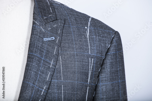 Fotografie, Obraz  Details of a tailored suit jacket
