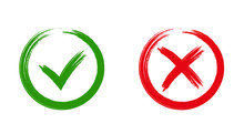 Green Checkmark OK And Red X I...
