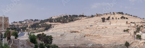 Fotomural The mount of olives - the most ancient  jewish cemetery in Jerusalem
