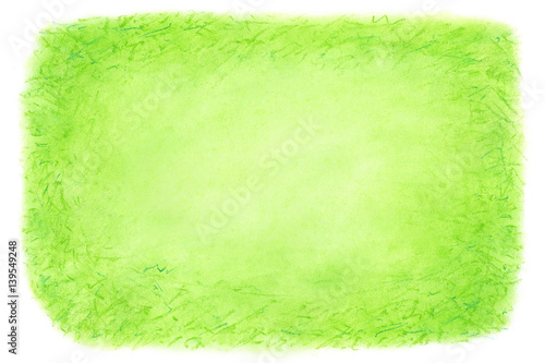 Green abstract hand drawn background Pastel crayon hand painted