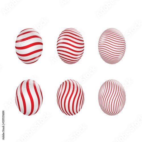 Fototapeten Künstlich Easter eggs set