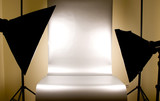 Studio lighting with background